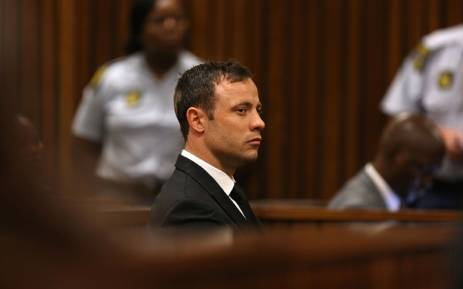 FILE: Paralympian Oscar Pistorius is seen during judgment in his murder trial at the High Court in Pretoria on Friday, 12 September 2014. Picture: Pool.