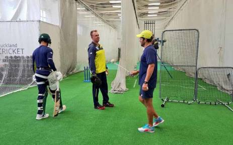 Proteas players during a training session after their warm up match against New Zealand was lost due to rain. Picture: Twitter/@OfficialCSA.