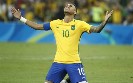 FILE: Brazil's forward Neymar celebrates scoring a goal. Picture: AFP