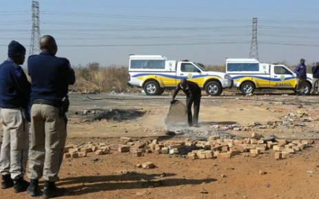 FILE: EMPD monitor a protest. Picture: EMPD