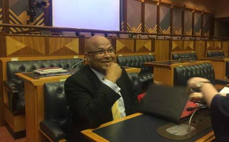 State Security Agency head Arthur Fraser in Parliament ahead of Scopa meeting on 7 December 2017. Picture: Lindsay Dentlinger/EWN.