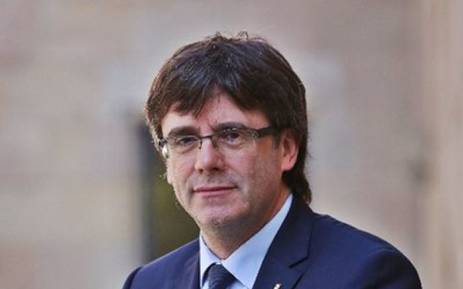 The leader of Catalonia Carles Puigdemont. Picture: Twitter/@KRLS