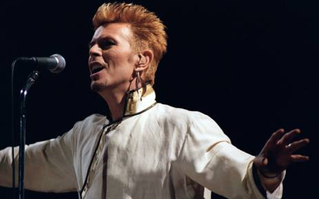 British singer David Bowie performs during a concert at the Parc des Princes, on 14 June 1997 on the first day of the rock festival in Paris. Picture: AFP.
