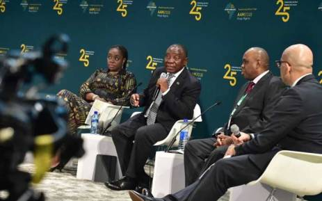 President Cyril Ramaphosa addressing the 25th Anniversary of the Afrexim Bank in Abuja, Nigeria. Picture: @PresidencyZA/twitter.