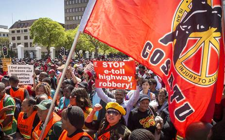 FILE: Cosatu says it has mad a call for the mobilisation of members against the new Act. Picture: Thomas Holder/EWN
