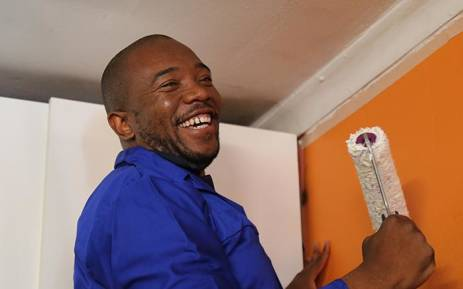 DA leader Mmusi Maimane celebrated Mandela Day by visiting Tumelo House for the mentally disabled in Ivory Park.  Picture: Christa Eybers/EWN