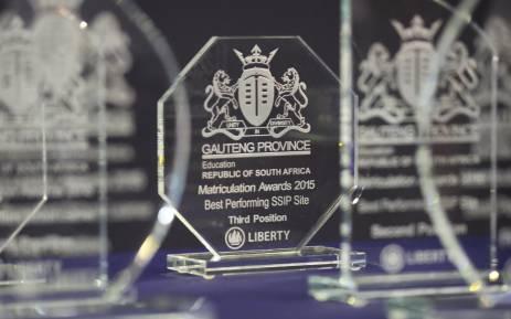 Gauteng Matrics award. Picture: Christa Eybers/EWN.