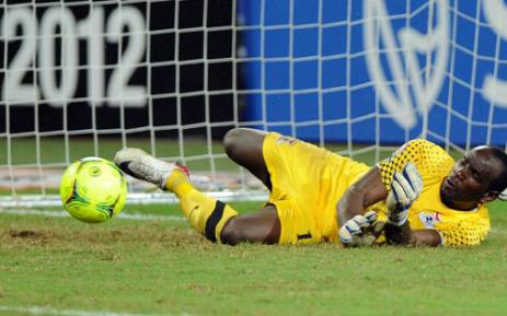 Zambia's goalkeeper Kennedy Mweene stops the ball during the African Cup of Nations final football match between Zambia and Ivory Coast on February 12, 2012, at the Stade de l'Amitie in Libreville. Picture: AFP.