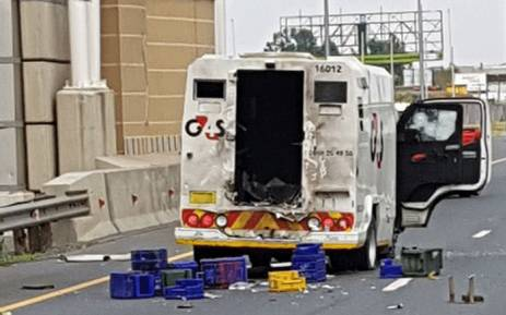 An attempted cash heist took place in Boksburg on Saturday 10 March 2018. Picture: @crimeairnetwork/Twitter