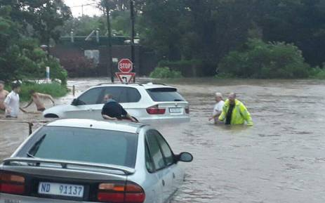Amanzimtoti, south of Durban, was badly affected by the storm on 10 October 2017. Picture: Chantel Adant/Storm Report SA.