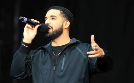 Singer Drake speaks to the crowd prior to the Floyd Mayweather Jr. v Conor McGregor World Press Tour at Budweiser Stage on 12 July  2017 in Toronto. Picture: AFP.