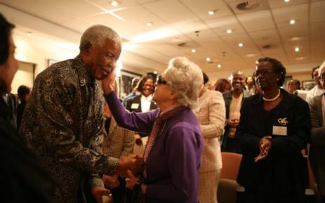 Nelson Mandela and Rica Hodgson during the first Malibongwe dialogue held at the Nelson Mandela Foundation. Picture: nelsonmandela.org.