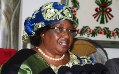 Former Malawian President Joyce Banda. Picture: AFP.