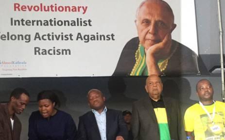FILE: KZN ANCYL members disrupt Pravin Gordhan and ANC Treasurer General Zweli Mkhize at the Ahmed Kathrada's memorial service. Picture: Ziyanda Ngcobo/EWN.