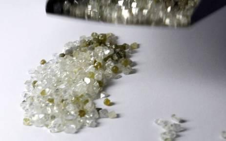 FILE: Raw diamonds. Picture: AFP