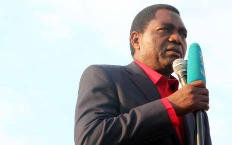 Main Zambian opposition party United Party for National Development presidential candidate Hakainde Hichilema. Picture: AFP.