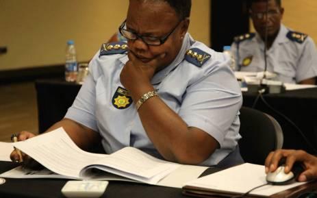 Gauteng Police Commissioner Major General Deliwe de Lange. Picture: @GPLegislature/Twitter.