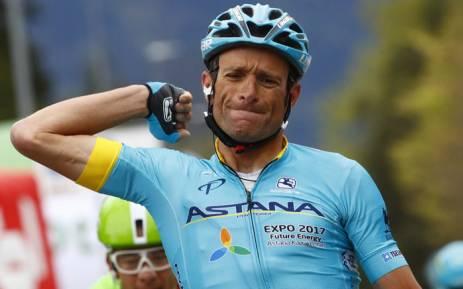Italian cyclist Michele Scarponi. Picture: Twitter/@AstanaTeam.