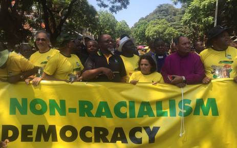ANC supporters march to the Union Buildings over racism on 19 February 2016. Picture: Christa Eybers/EWN.