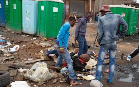 FILE: Four men were arrested after the fatal stabbing of a Mozambican national Emmanuel Sithole, in Alexandra at the weekend. Picture: James Oatway/Sunday Times.