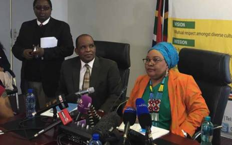 Religious watchdog the CRL Rights Commission briefing the media on its report on the commercialisation of religion. Picture: Thando Kubheka/EWN