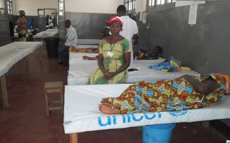 FILE: Patients suffering from cholera are treated at the Kalemie hospital, in the south-eastern Congolese province of Katanga in 2014. Picture: AFP.