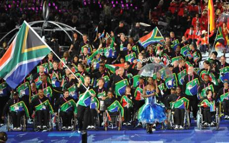 Team SA enters the stadium, during the opening ceremony of the Paralympics. Picture: Wessel Oosthuizen/SA Sports Picture Agency.