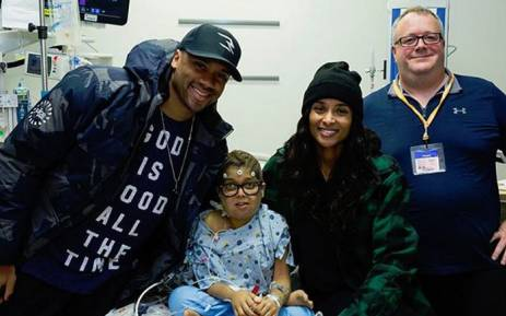 Ciara and her husband Russell Wilson visited the Seattle Children's Hospital on 23 November 2017. Picture: @ciara.