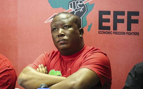 FILE: Julius Malema pulled no punched in a debate with Clem Sunter in Cape Town.