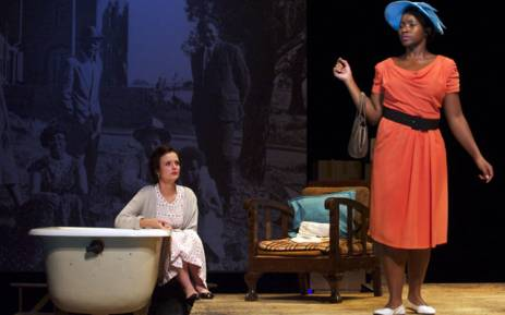 Barileng Malebye as Princess and Christine van Hees as Ruth Golden on the set of Sophiatown at the Market Theatre playing from 31 March to 14 May 2017. Picture: Market Theatre.