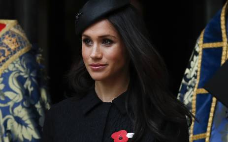 Meghan Markle after attending a service of commemoration and thanksgiving to mark Anzac Day in Westminster Abbey in London on 25 April 2018. Picture: AFP.