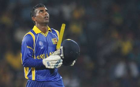 FILE: Sri Lankan cricketer Chamara Silva reacts after scoring a half-century (50 runs) during the Group A match in the World Cup Cricket tournament between Sri Lanka and Pakistan at the R. Premadasa Stadium in Colombo on February 26, 2011. Picture: AFP.
