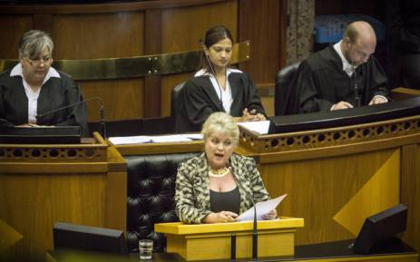 DA MP Dianne Kohler Barnard. Picture: Picture: Thomas Holder/EWN.