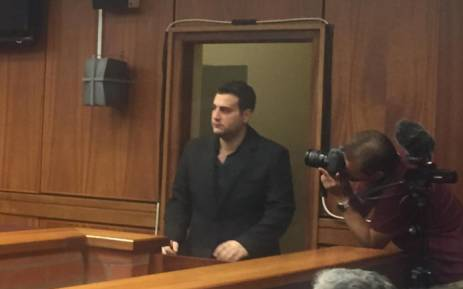 Murder accused, Chris Panayiotou enters Port Elizabeth Magistrate Court ahead of his bail hearing application on 27 May 2015. Picture: Siyabonga Sesant/EWN.