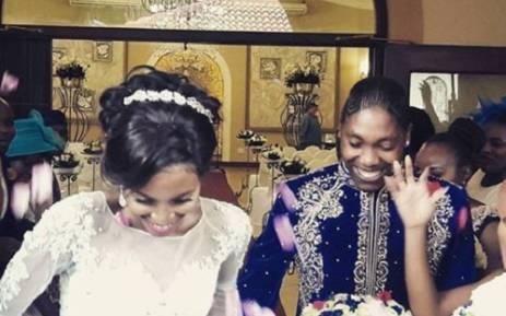 Caster Semenya and long-time partner Violet Raseboya. Picture: Facebook.