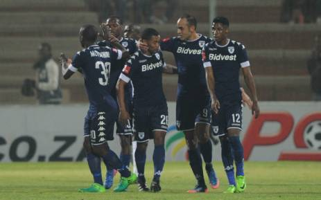 Bidvest Wits players celebrate their match victory against Mamelodi Sundowns. Picture: Facebook.com.