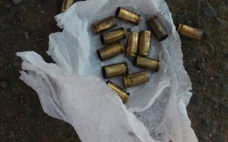 These were found at the scene after a boy was shot dead at a protest in Mpumalanga. Picture: Supplied.