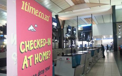 Check-in counters at Johannesburg's OR Tambo International Airport were closed after 1time filed for liquidation on 2 November, 2012. Picture: Sheldon Morais/EWN