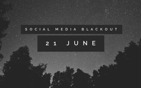Social media blackout. Picture: Twitter.