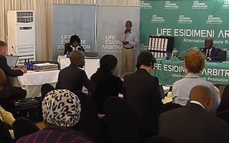 A screengrab of Dikeledi Manaka giving evidence at the Esidimeni arbitration hearing in Johannesburg on 15 November 2017.