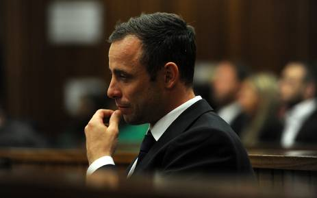 FILE: Oscar Pistorius sits in the dock in the High Court in Pretoria on 12 March 2014. Picture: Pool