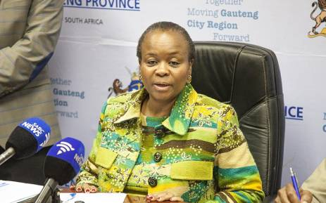 FILE: Gauteng Health MEC Gwen Ramokgopa. Picture: Kgothatso Mogale/EWN.