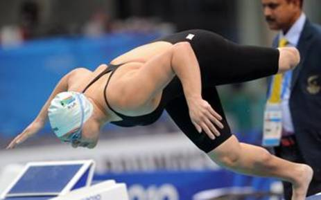 Natalie du Toit at the 2012 Paralympics. Picture: Supplied.
