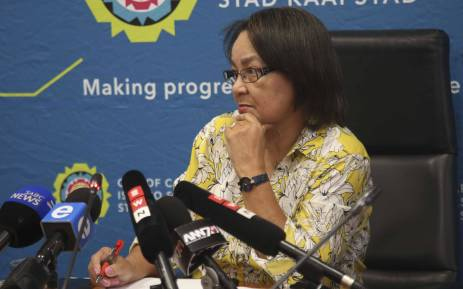 FILE: Cape Town Mayor Patricia de Lille addresses the media at a briefing regarding the drought in Cape Town. Picture: Cindy Archillies/EWN