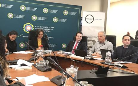 City of Cape Town Mayor Patricia de Lille briefing the media about the city's 'Water Resilience Plan'. Picture: Monique Mortlock/EWN