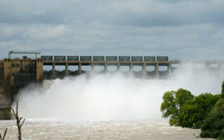 FILE: Sluice gates at the Vaal Dam are opened. Picture: Sha Redfern/iWitness