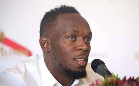 Usain Bolt trains with Mamelodi Sundowns FC in South Africa