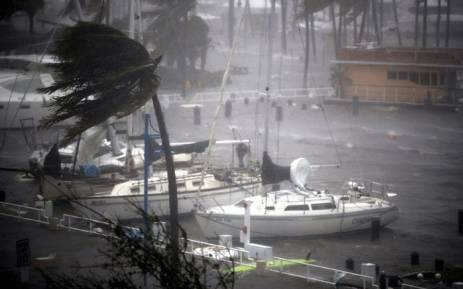 Boats ride out Hurricane Irma in a marina on 10 September 2017 in Miami, Florida. Picture: AFP.