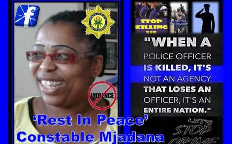 Constable Caroline Mjandana was murdered while on duty. Picture: Public Servant PE Appreciation Squad/facebook.com