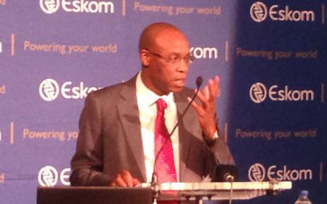 Eskom CEO, Tshediso Matona, updates the media on the status of load shedding on 8 December 2014. Picture: Reinart Toerien/EWN.